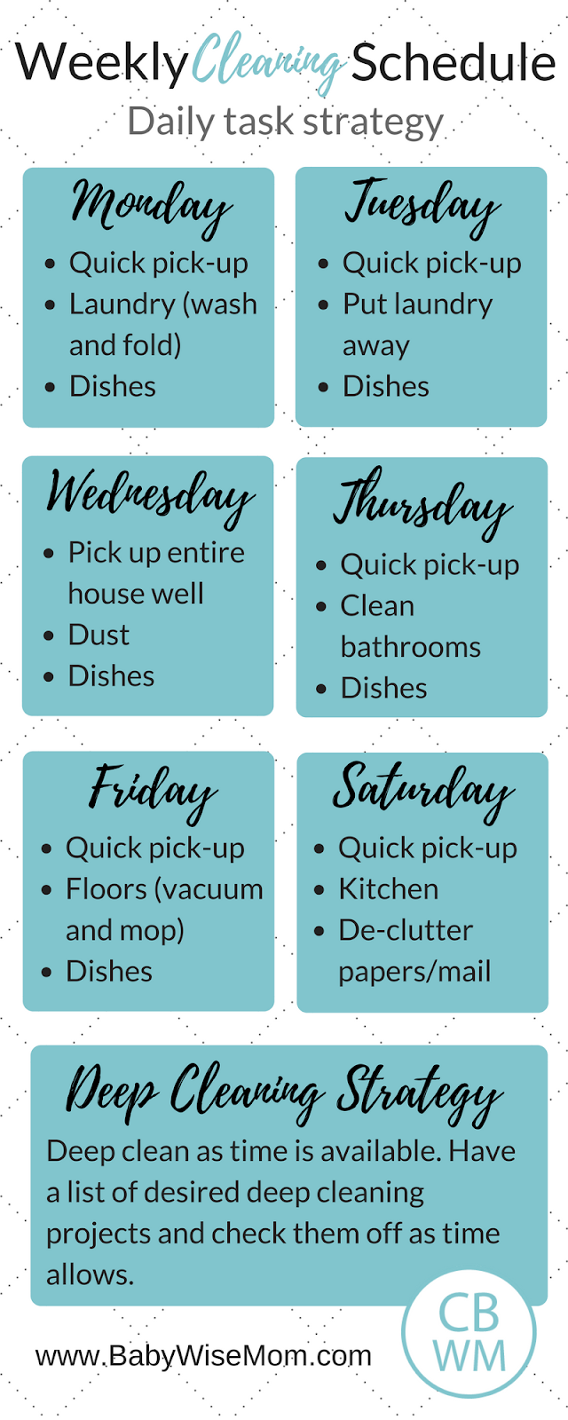 laundry schedule template  Chronicles of a Babywise Mom - laundry schedule template