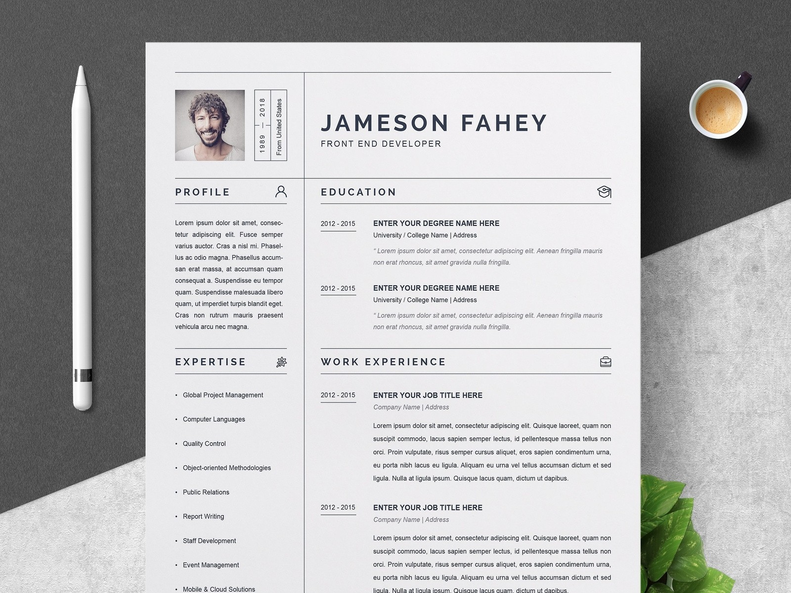 resume template examples  Clean Resume / CV Template by Resume Templates | Dribbble ..