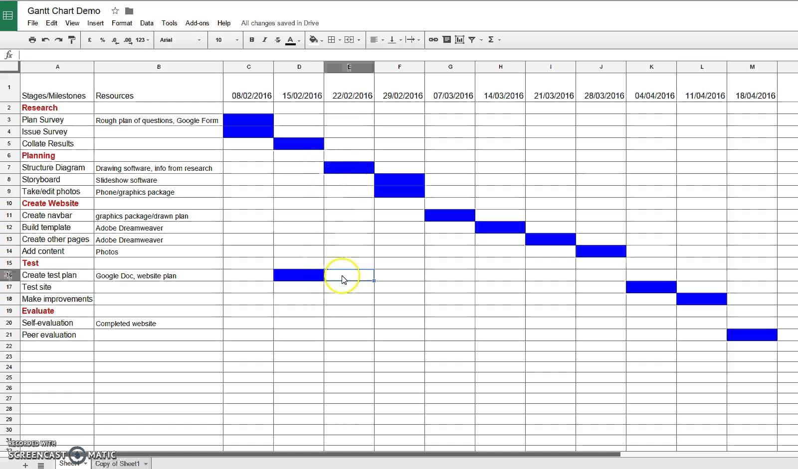 marketing calendar template google sheets  Comment faire un gantt - marketing calendar template google sheets