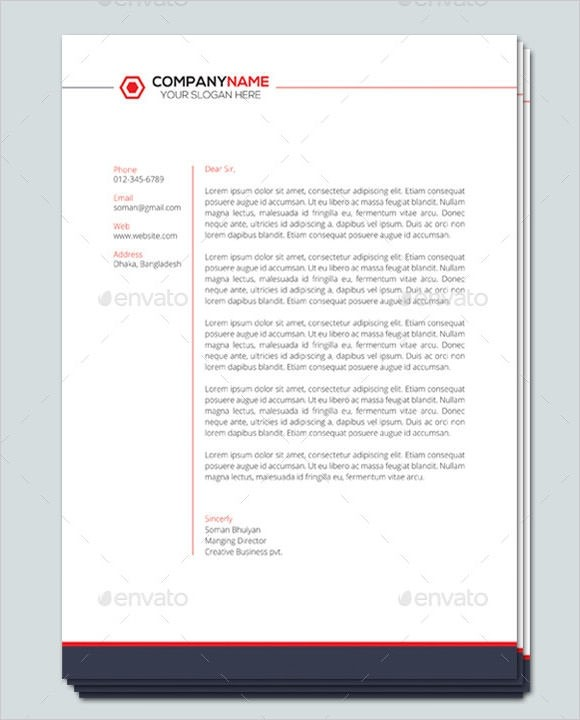 letter template with letterhead  Company Letterhead Template - 7+ Premium and Free Download ..