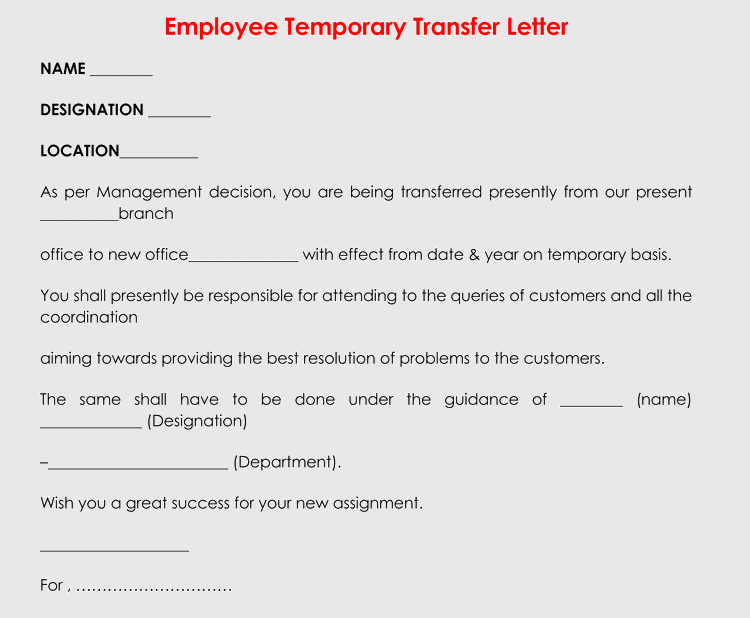 financial hardship letter template  Correct Format to Write a Transfer Request Letter (With ..