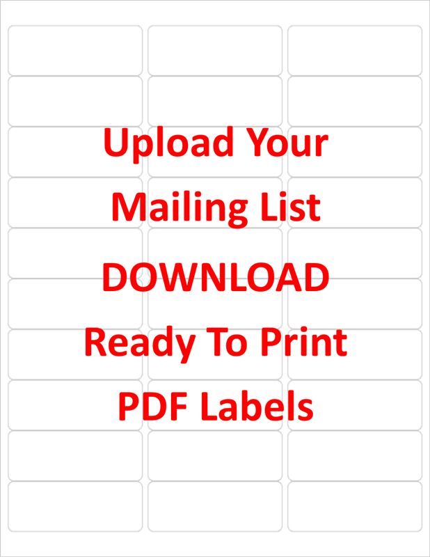 avery template download 5160  Create Labels from your Mailing List in Excel - avery template download 5160