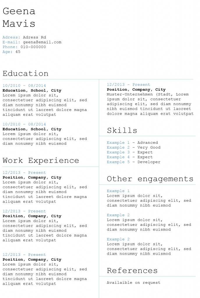 resume template skills  Creative CV templates | Land the job with our free Word ..