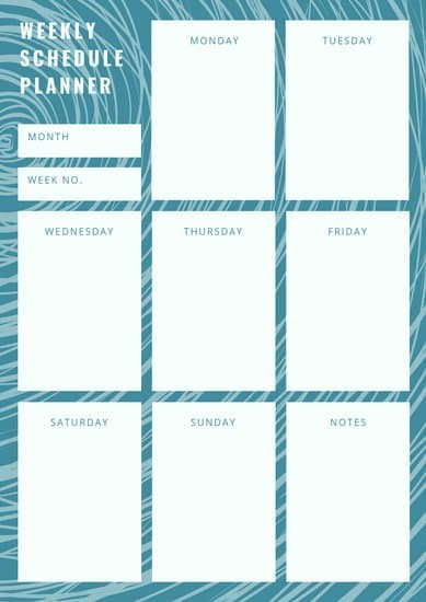blank daily schedule template  Customize 434+ Planner templates online - Canva - blank daily schedule template
