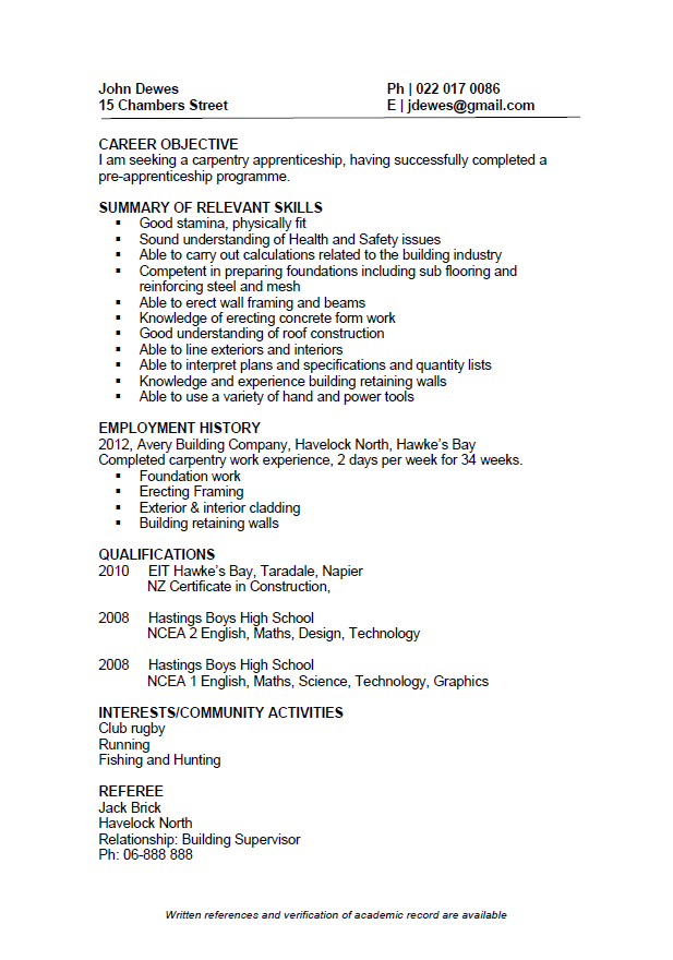 young professional resume template  CV Formats and Examples - young professional resume template