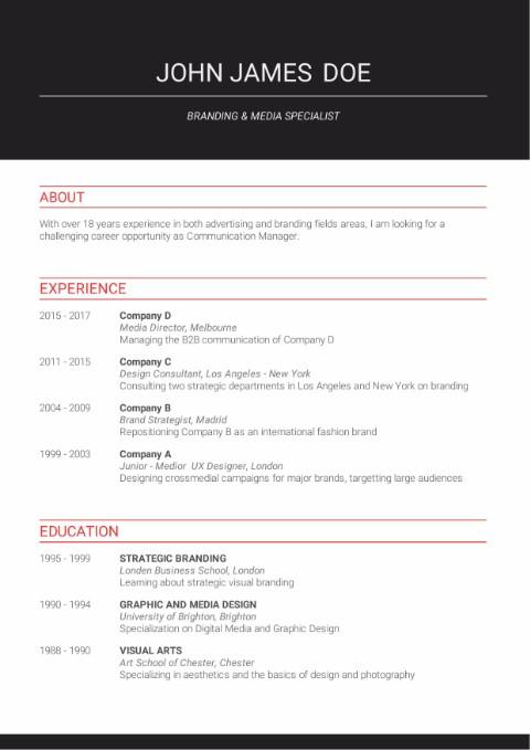 resume template builder  CV-Template | Free Online CV Builder, Best CV Templates