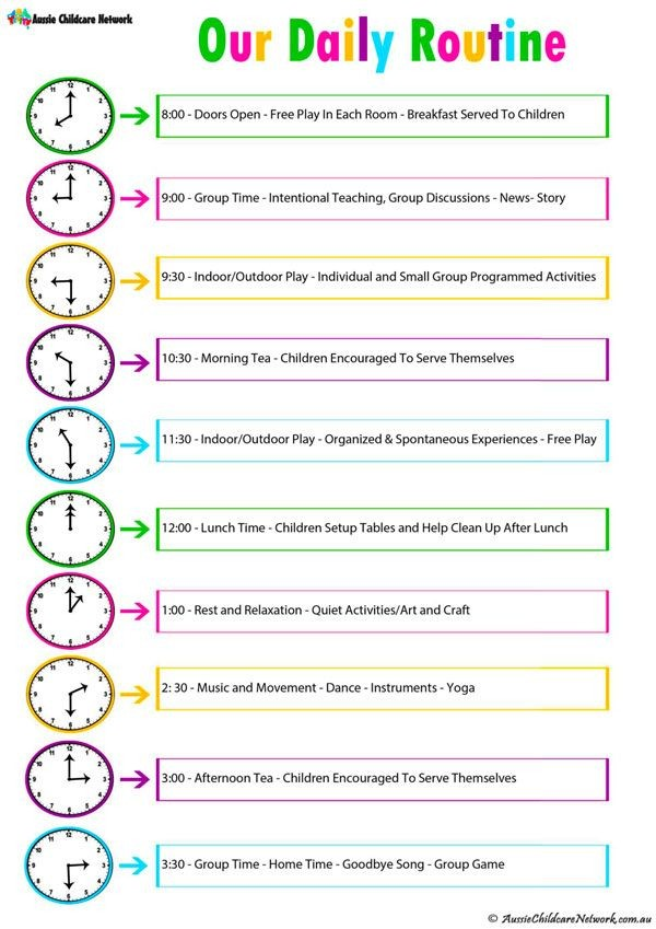 kid summer schedule template  Daily Room Routine Template - Aussie Childcare Network - kid summer schedule template