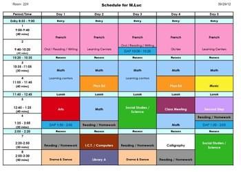 meeting room schedule template  Daily Schedule Editable Excel File by Mr Luke   Teachers ..