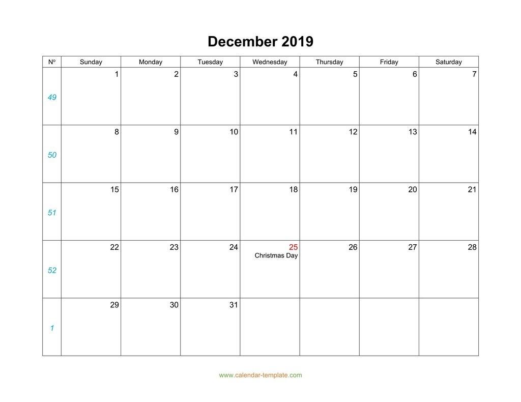 blank calendar template vertical  December calendar 2019 blank template - blank calendar template vertical