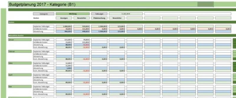 yearly schedule template excel  Details zum Artikel - [Finanzen & Controlling] Excel Tool ..