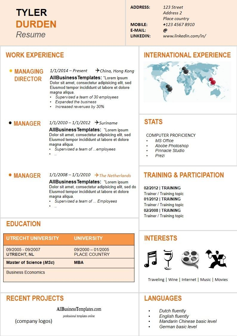 resume template language  Dynamic Resume template | Templates at ..