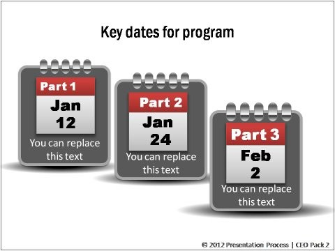 key dates calendar template  Elearning Templates from CEO Pack 2 - key dates calendar template