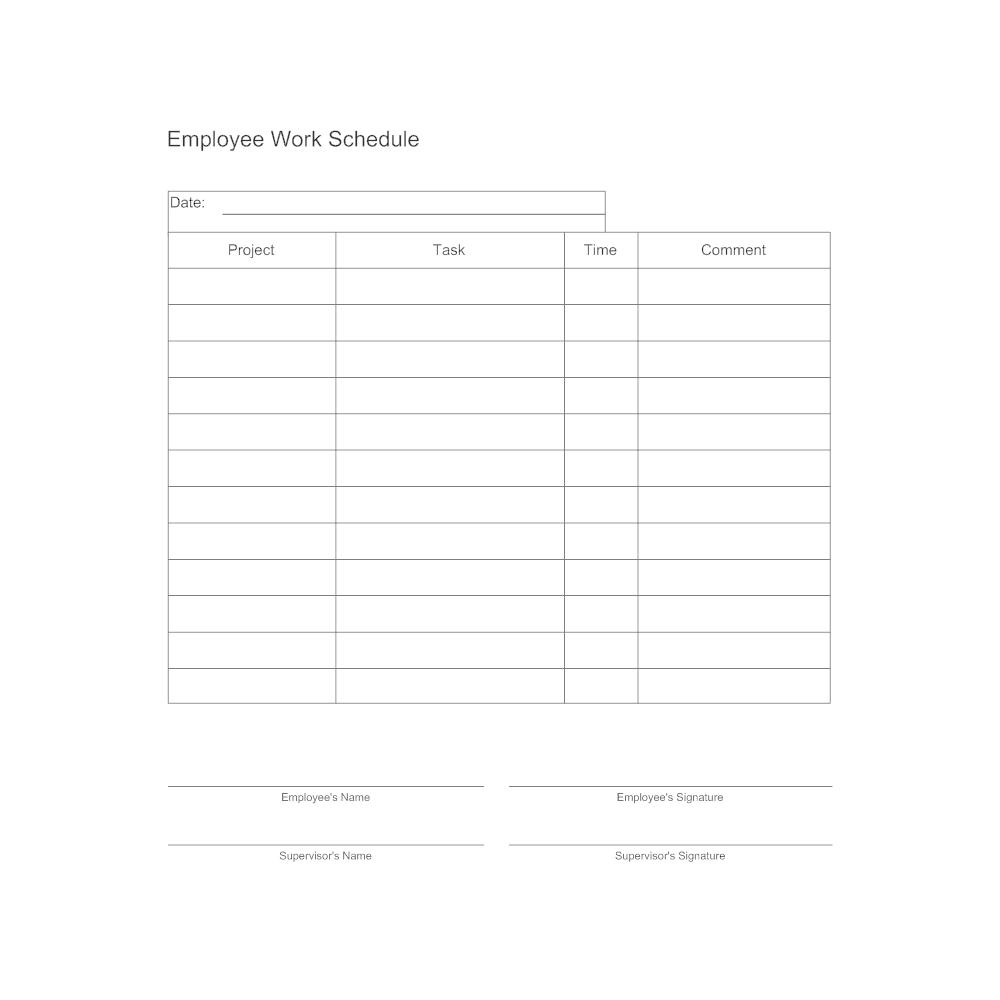 work schedule template google sheets  Employee Work Schedule Form - work schedule template google sheets