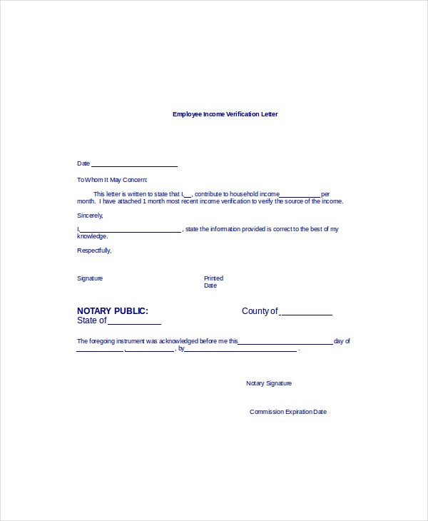 employment verification letter template word  Employment Verification Letter Sample & Templates in Word ..
