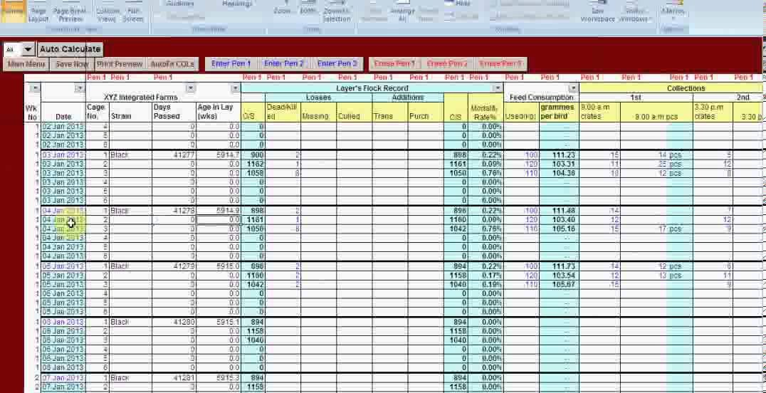 video production schedule template  EXCEL-VB DRIVEN POULTRY LAYER FARM MANAGER SOFTWARE ..