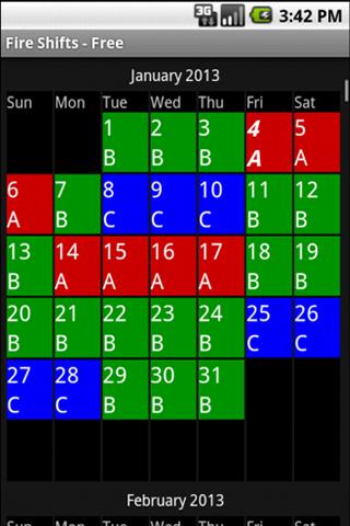 24 7 calendar template  Fire Shifts | Fire Fighter and EMS calendars for Android & iOS - 24 7 calendar template
