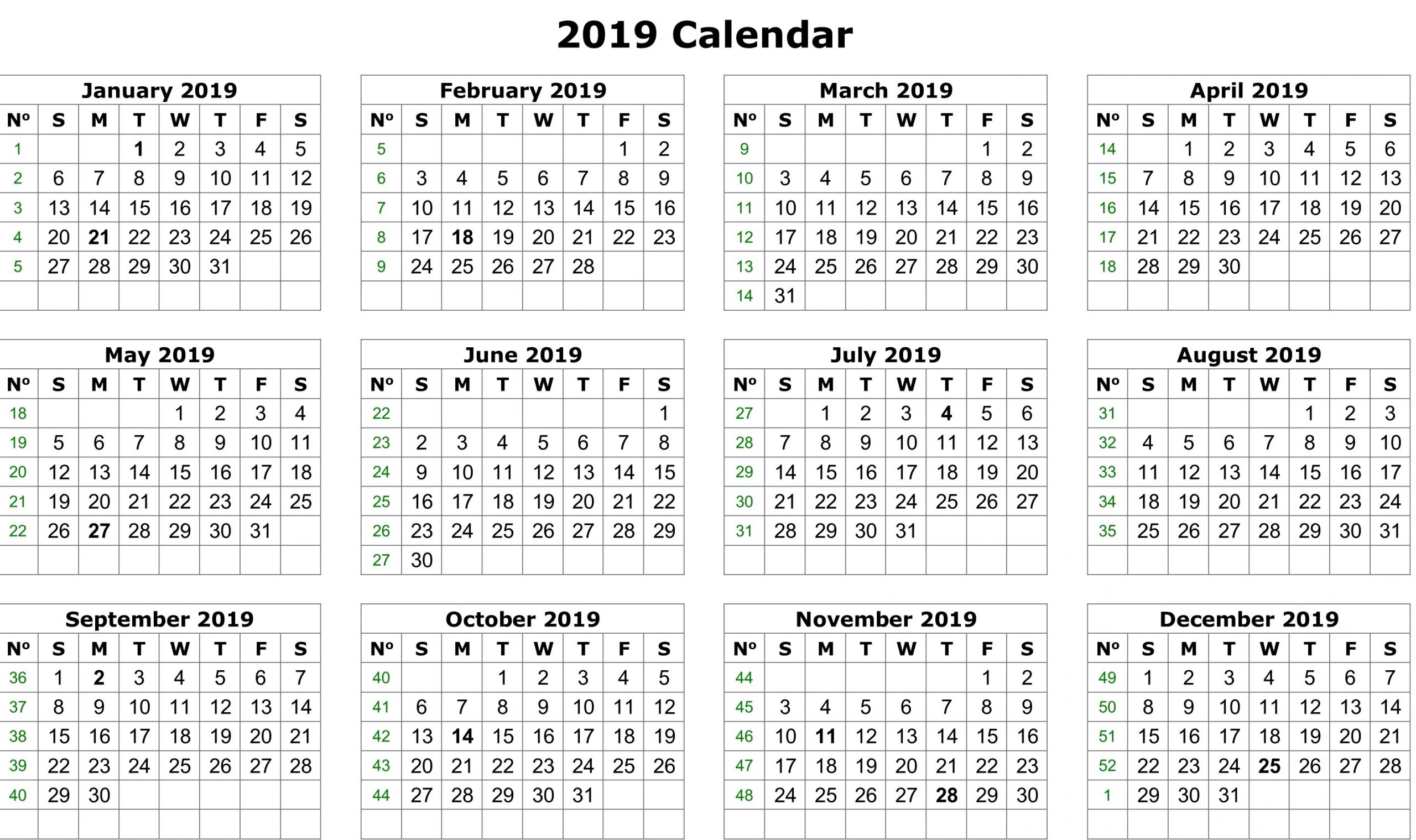 monthly work schedule template 2019  Fiscal Calendar 2019 Template   Free Printable 2019 ..