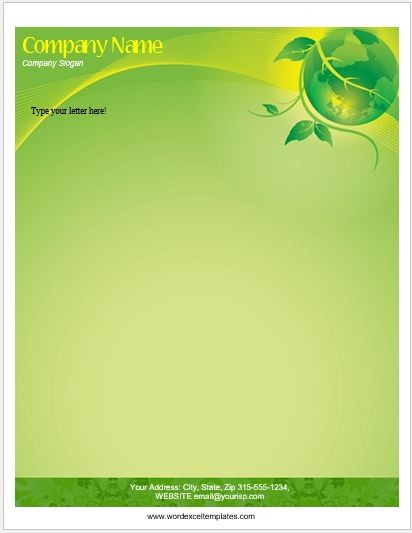 letter template with letterhead  Floral Letterhead Templates for MS Word | Word & Excel ..