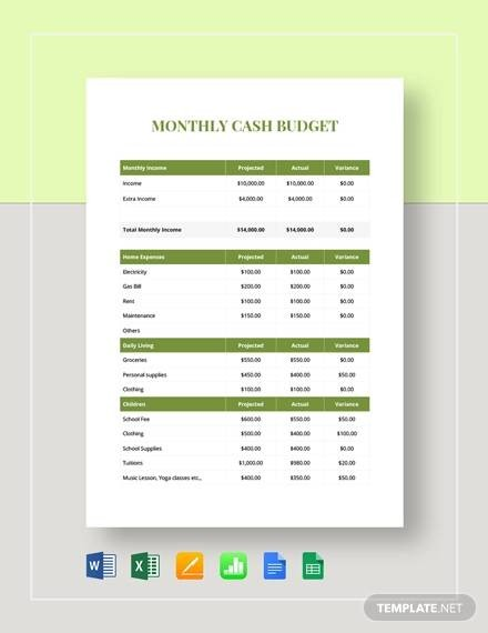 personal budget template google sheets  FREE 23+ Sample Monthly Budget Templates in Google Docs ..