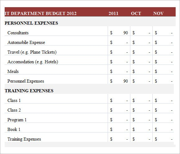 budget template google sheets  FREE 8+ IT Budget Templates in Google Docs | Google Sheets ..