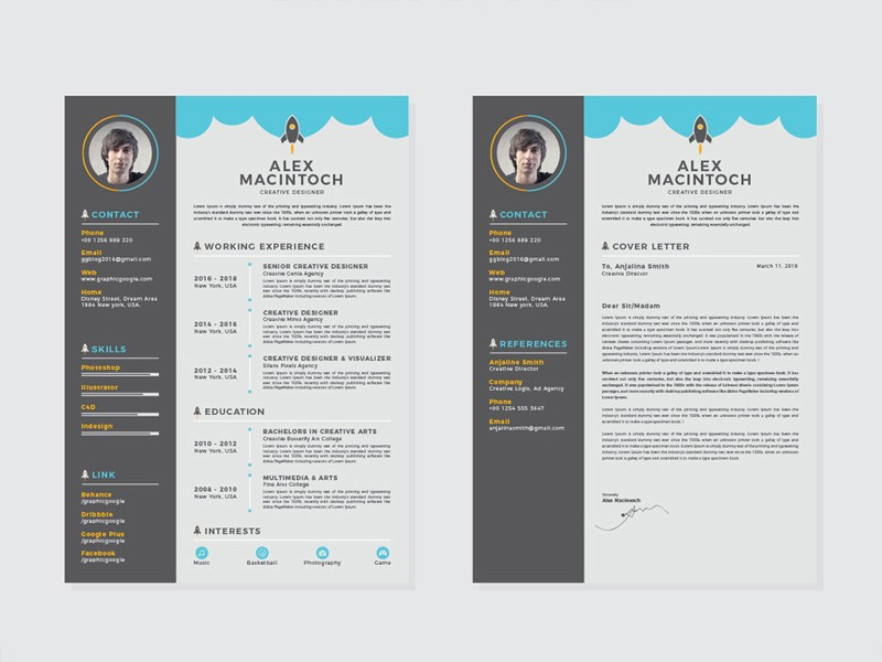 resume template zety  Free Creative Resume Template with Matching Cover Letter ..