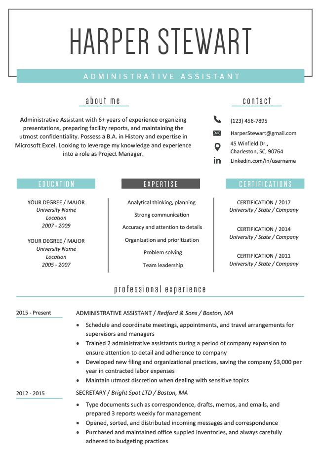 resume template latest  Free Creative Resume Templates & Downloads | Resume Genius - resume template latest