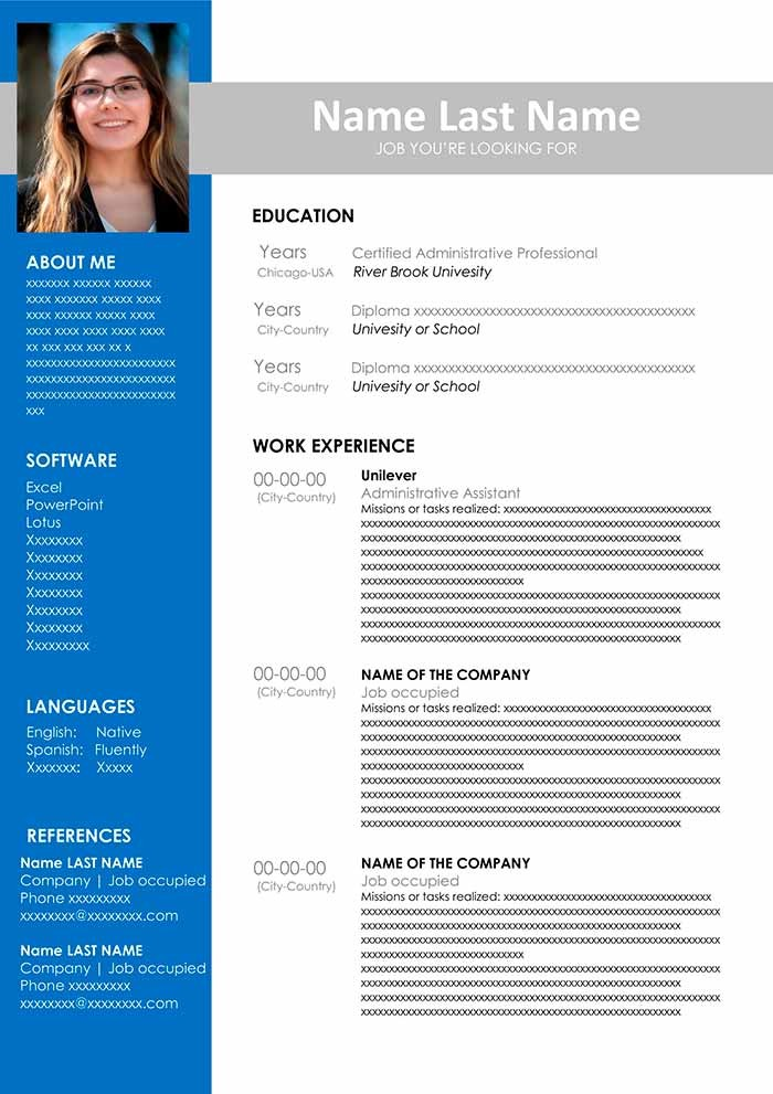 resume template word  Free CV Template to Fill Out in Word Format | CV Examples ..