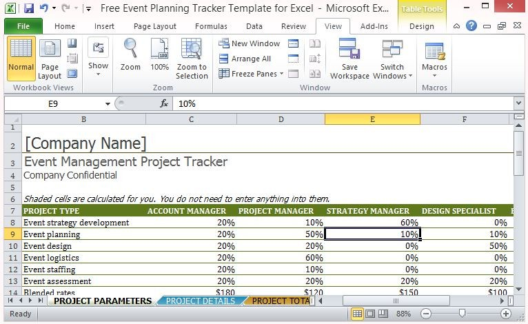 video production schedule template  Free Event Planning Tracker Template For Excel - video production schedule template