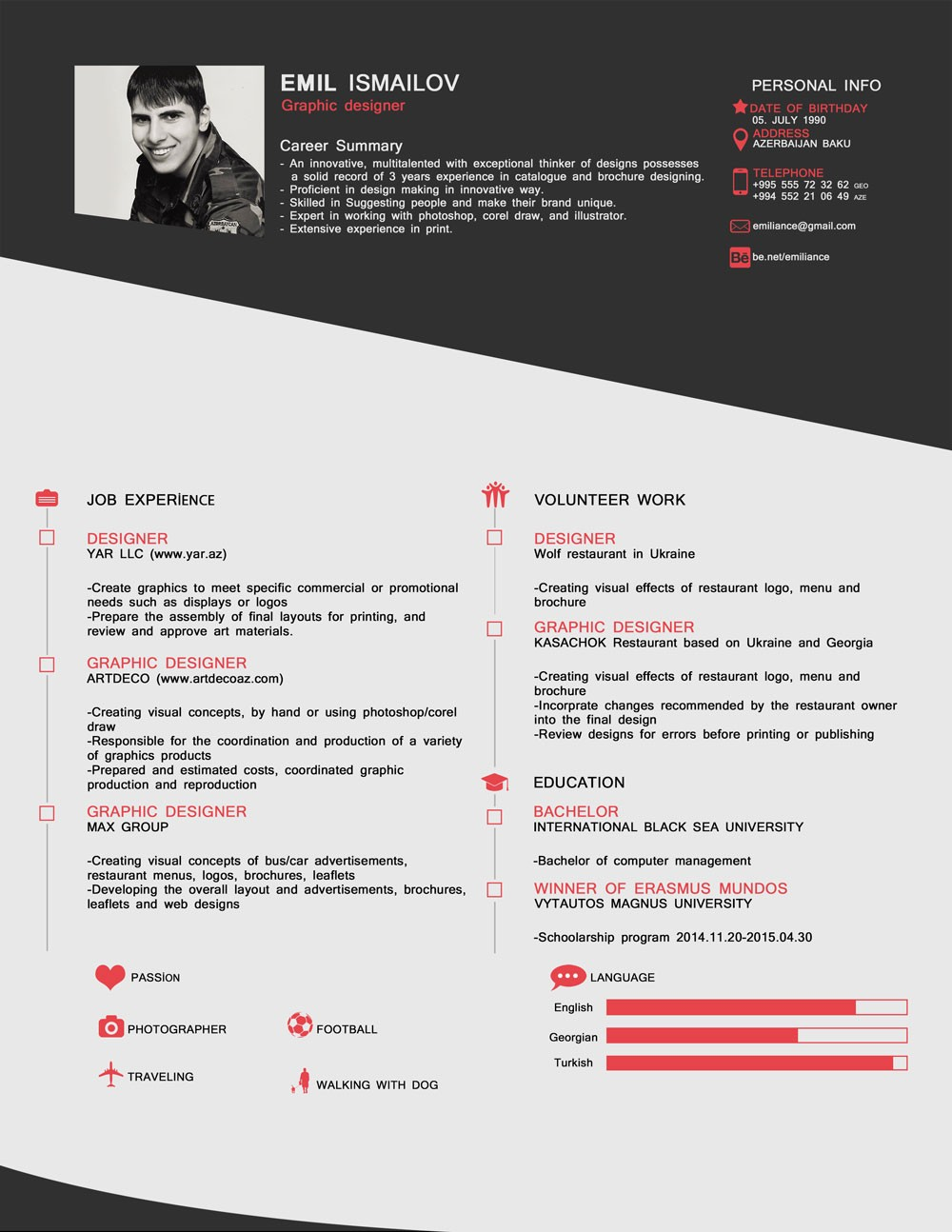 resume template 1 page  Free Old Style CV/ Template In PSD Format - Good Resume - resume template 1 page