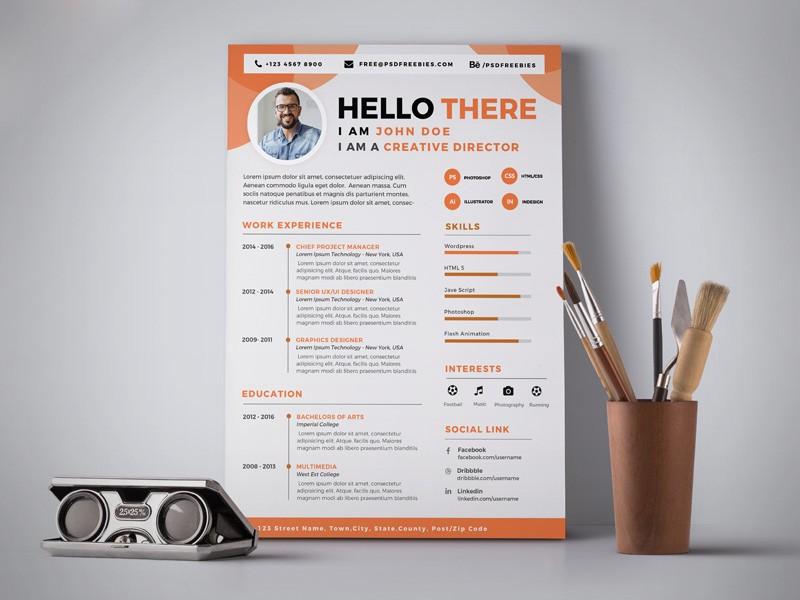 a good resume template  Free Professional Resume (CV) Design Template PSD - Good ..