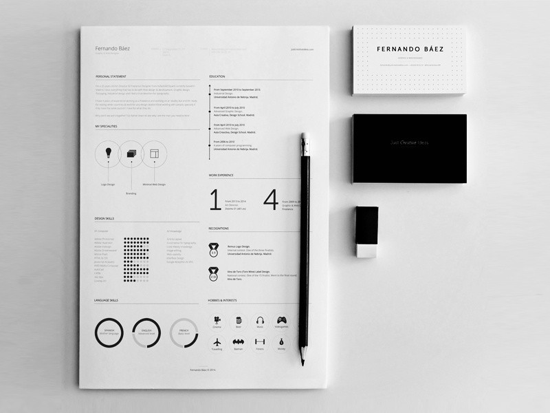 resume template graphic designer  FREE Resume Template by Fernando Báez on Dribbble - resume template graphic designer