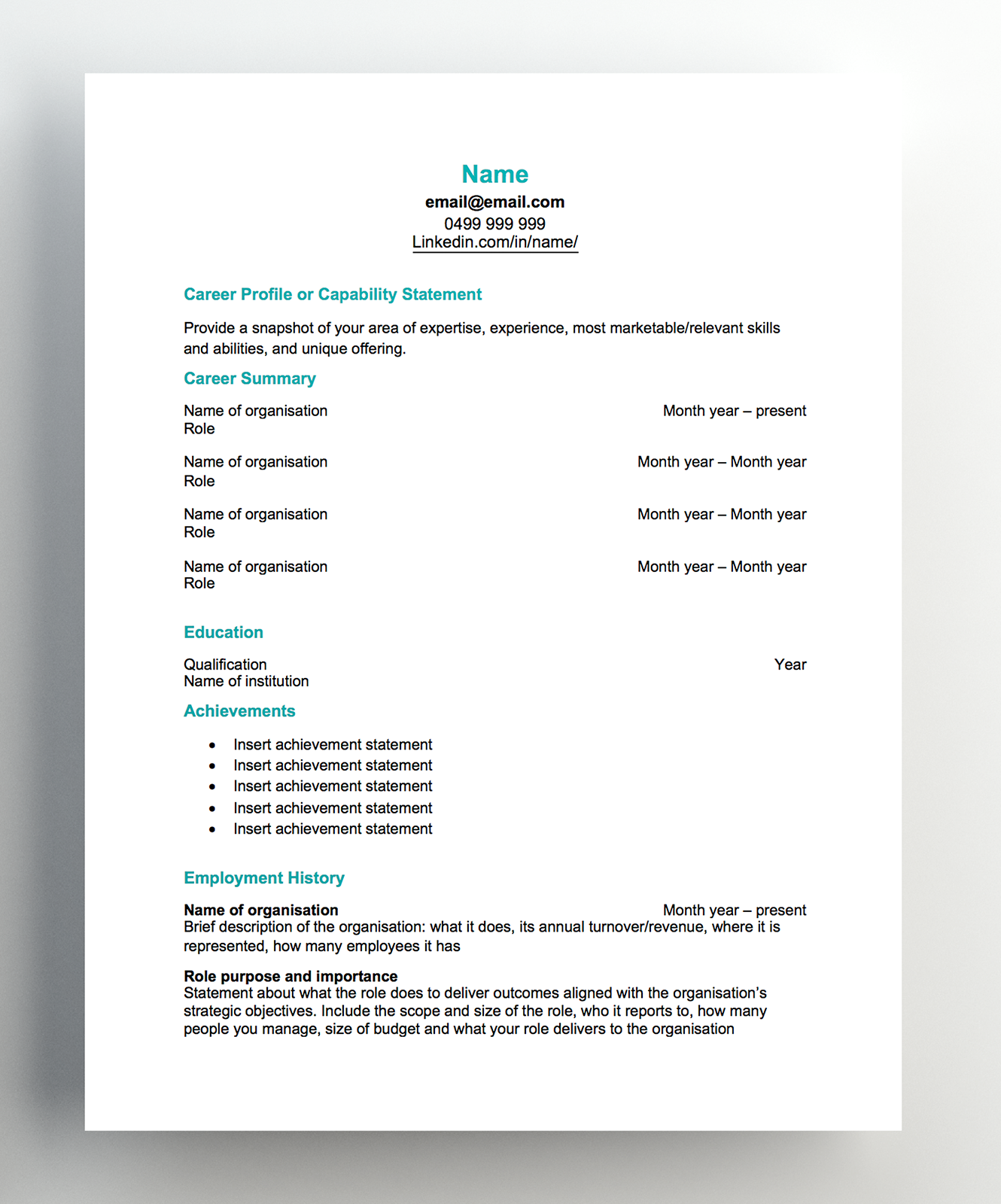 resume template 2019 singapore  Free resume templates - resume template 2019 singapore
