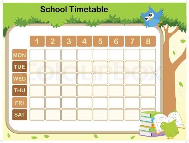 school schedule template cute  Free School Timetable Template Teachers | School timetable ..