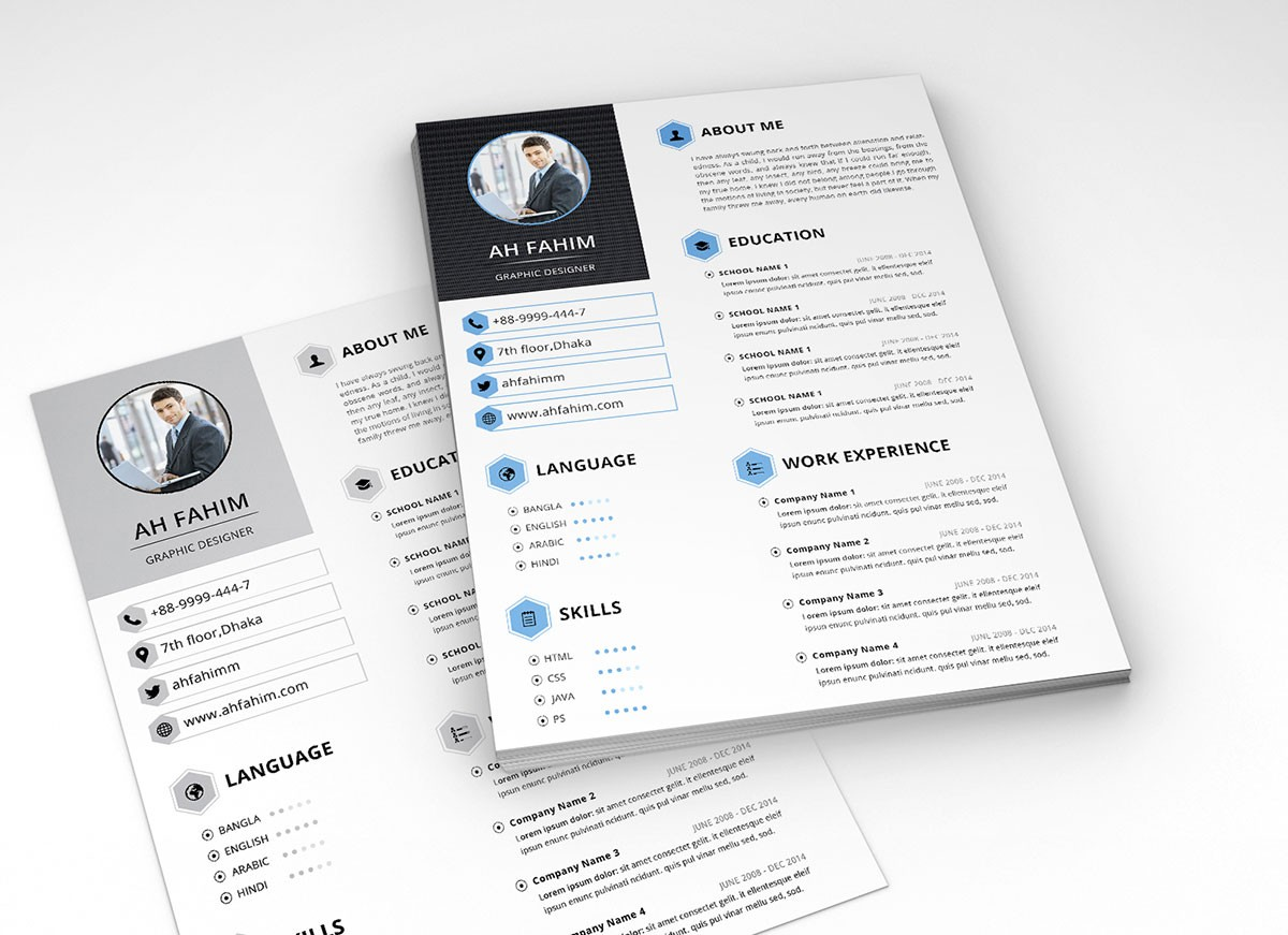 3 letter templates free  Free Simple Resume Template In PSD Format - Good Resume - 3 letter templates free