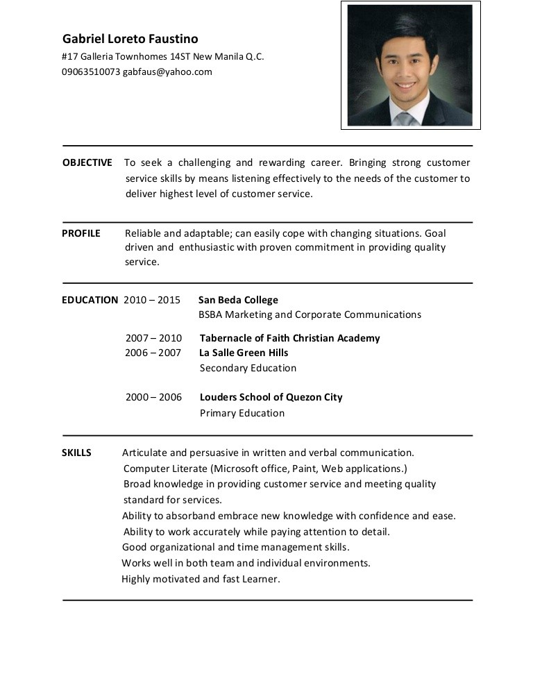 resume template linkedin  Gabriel Faustino resume - resume template linkedin