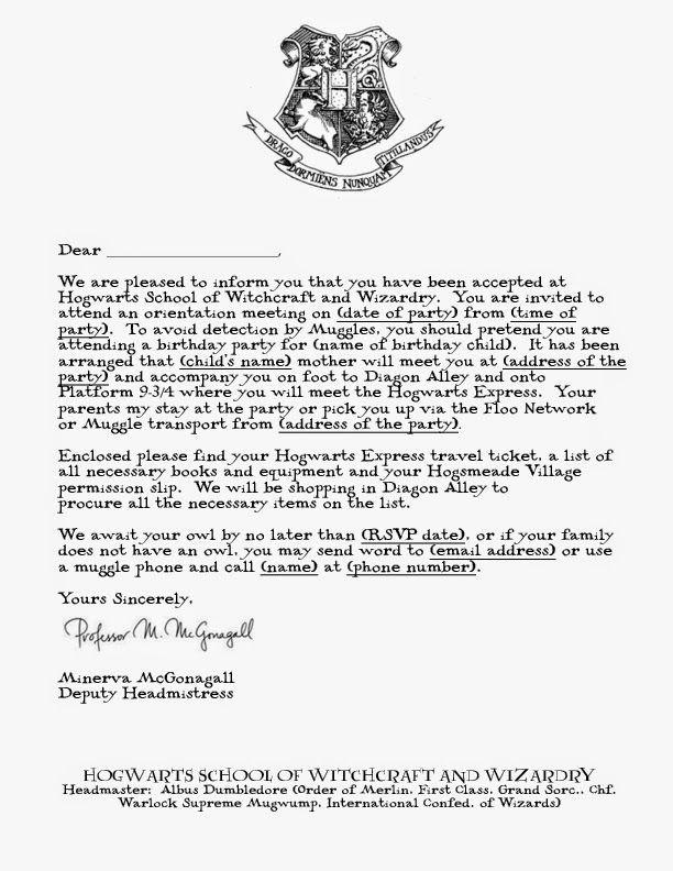 hogwarts acceptance letter template google docs  harry potter acceptance letter template - Google Search ..