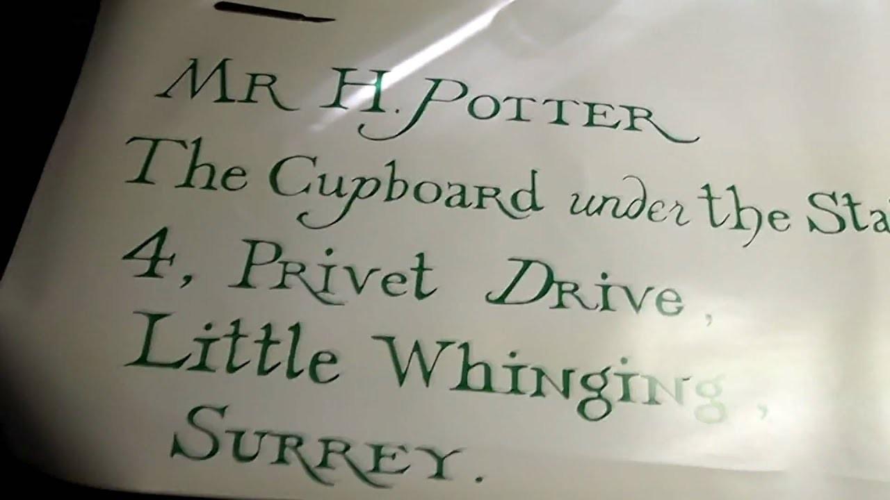 harry potter letter template  Hogwarts acceptance letter project - YouTube - harry potter letter template