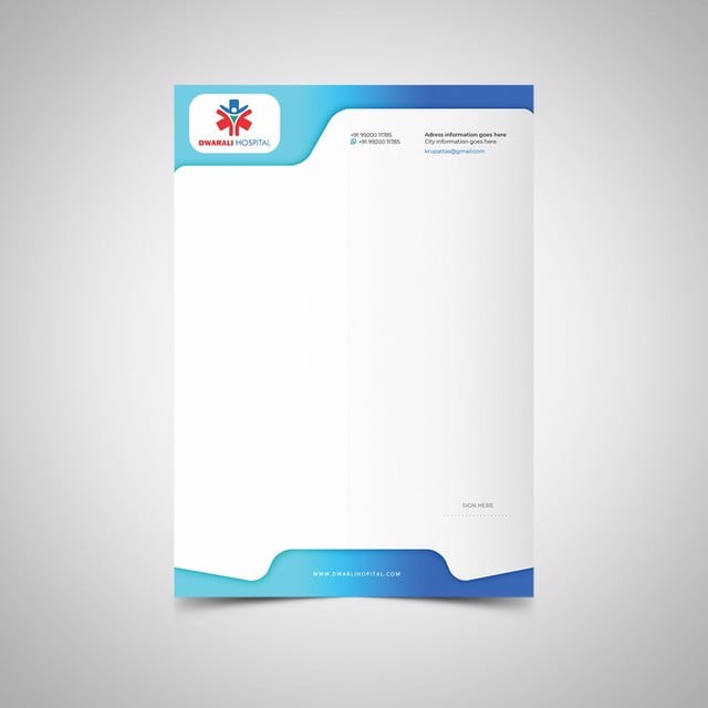 Vintage Hospital Letterhead Templates on for word free, find free, cleaning company, graphic design, monogram personal,