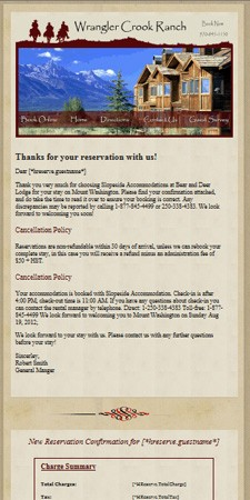 letter template sent via email  Hospitality Email Marketing - Resort Data Processing - letter template sent via email