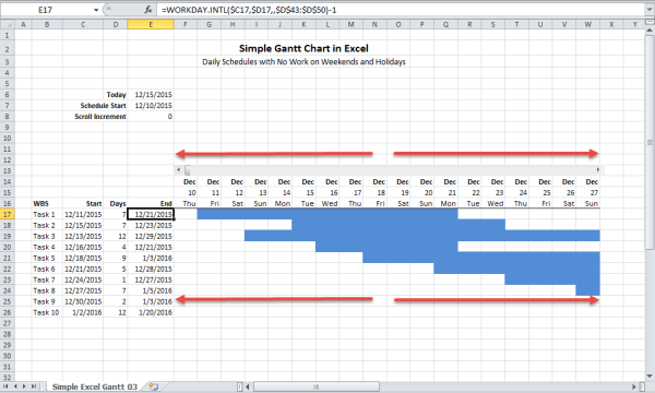 t-minus schedule template  How to Build a Gantt Chart in Excel   Critical to Success - t-minus schedule template