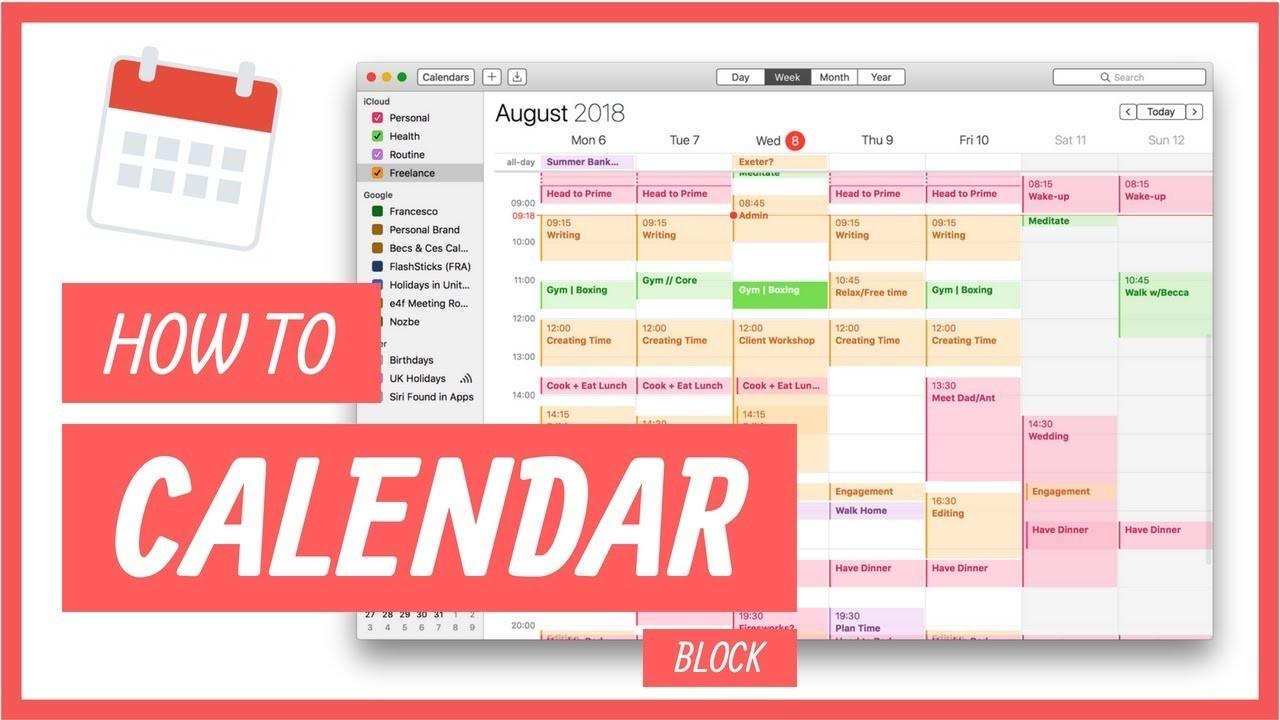 block schedule template jordan page  How to Calendar Block Your Week - YouTube - block schedule template jordan page