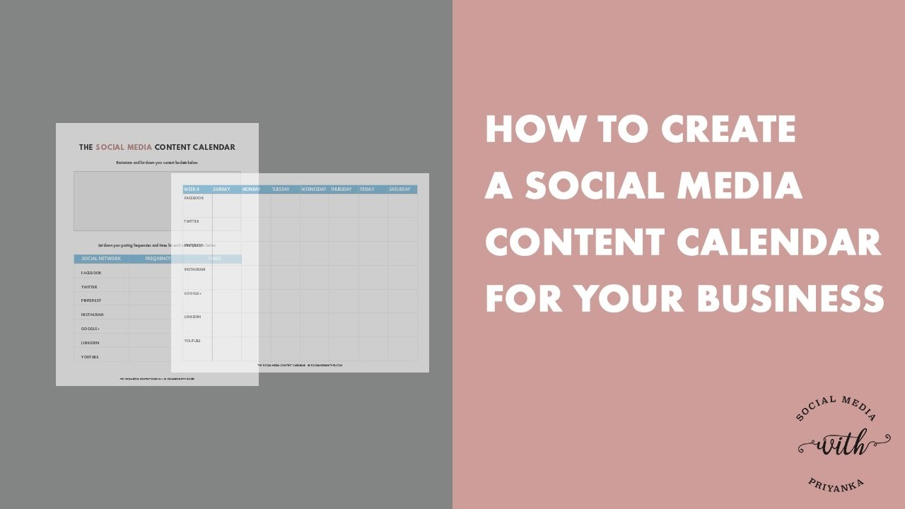 5 month calendar template  How to Create a Social Media Content Calendar for Your ..