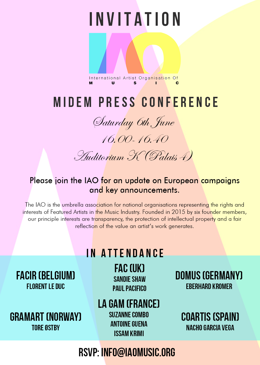 letter template uk  IAO Press Conference at Midem - letter template uk