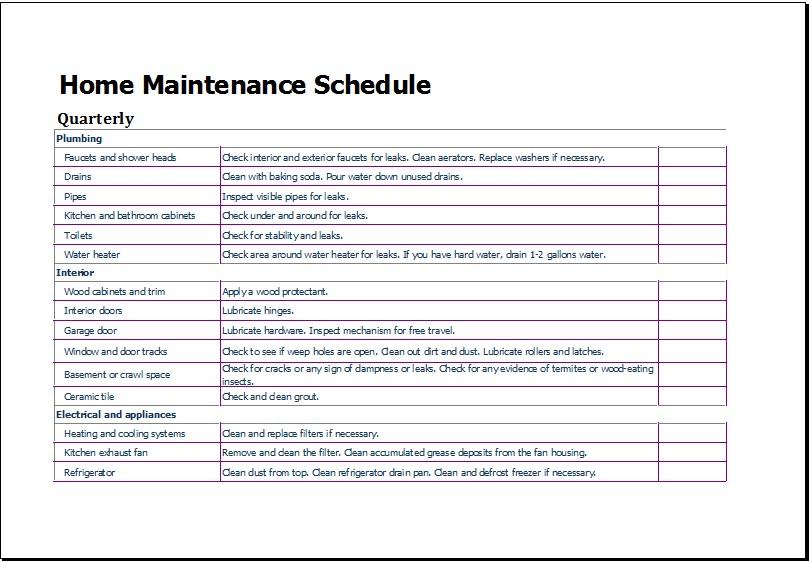 lawn mowing schedule template  Lawn Maintenance Schedule Template | printable schedule ..