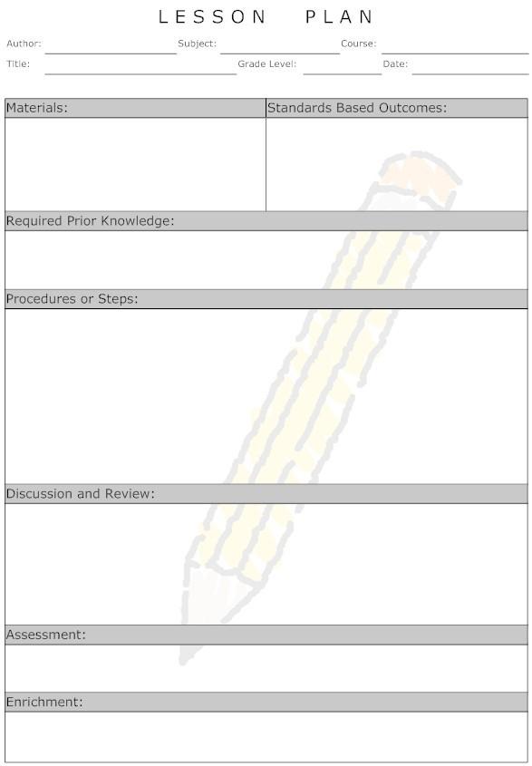 unit plan calendar template  Lesson Plan - How to Develop and Effective Lesson Plan - unit plan calendar template