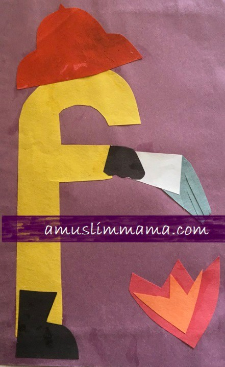 letter w craft template  Letter F Crafts | A Muslim MAMA - letter w craft template
