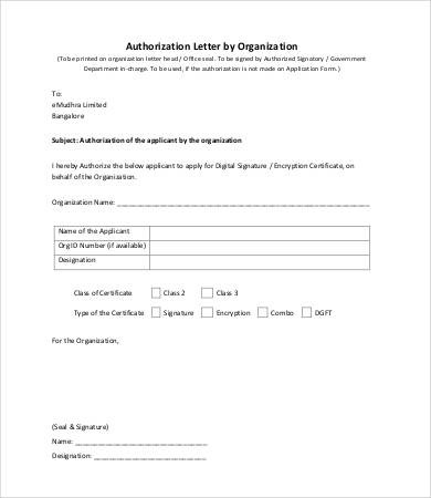 notarized letter template notarized document  Letter Of Authorization - 11+ Free Word, PDF Documents ..