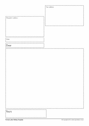 formal letter template ks2  Letter Writing Frames and Printable Page Borders KS1 & KS2 ..