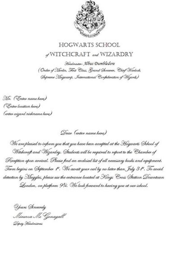 hogwarts acceptance letter template google docs  Make Your Own Hogwarts Acceptance Letter - hogwarts acceptance letter template google docs