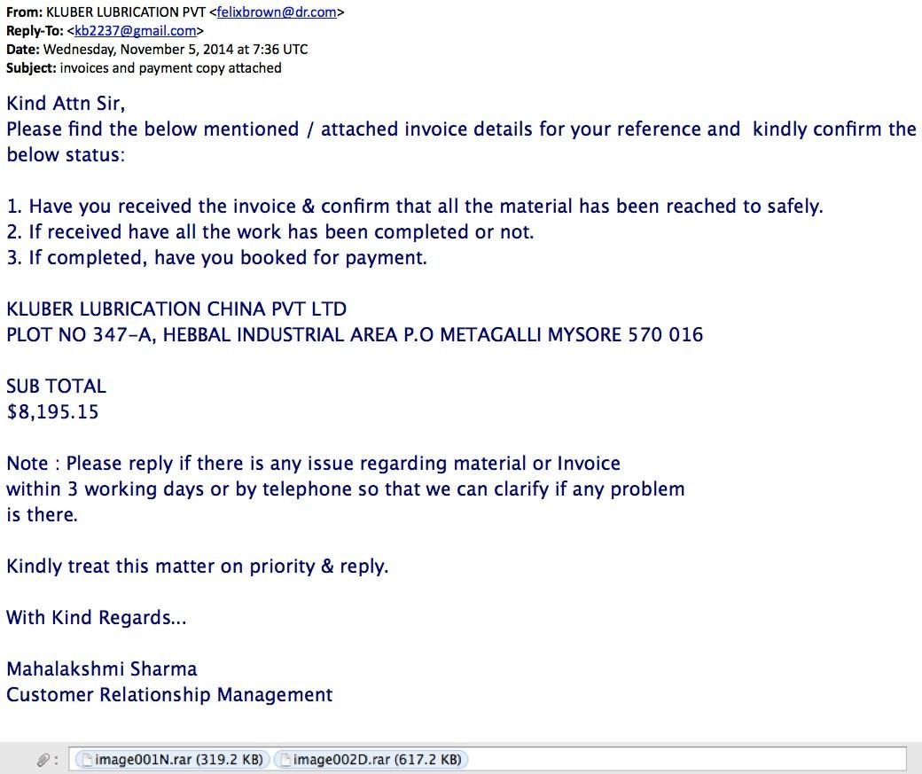 letter template sent via email  Malware-Traffic-Analysis.net - 2014-11-05 - Phishing email ..